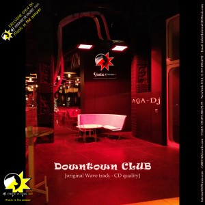 downtown club, aga dj, record cover design.